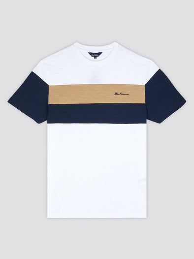 Ben Sherman Heritage Sports Block Tee - White
