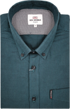 Ben Sherman Puppy Tooth Long Sleeve  Shirt - Forest