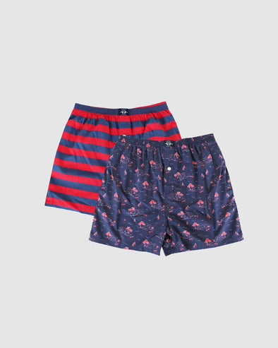 Woven 100% Cotton Boxer 2 Pack - Boats