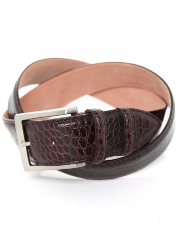 Brown Crocodile Belt