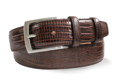 Brown Italian Snakeskin Belt