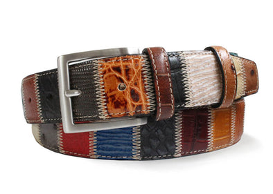 Multicolored Italian Patchwork Belt