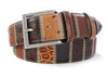 Brown Italian Leather Patchwork Belt