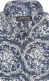 Bamboo Cartoon Short Sleeve Shirt - Navy Wall Floral