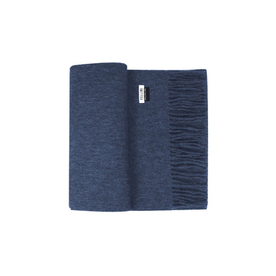 100% Lambs Wool Scarf - Denim