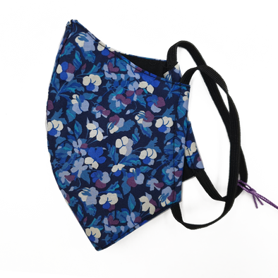 Liberty Art Merino Lined Face Mask - Midnight Floral