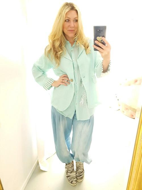 Helga May Bella Linen Suit Jacket Mint