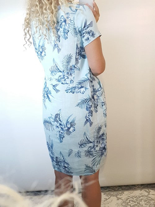 Helga May Jungle Dress Hummingbird Baby Blue