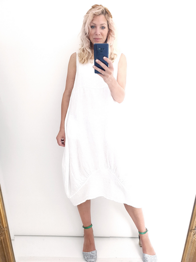 Helga May Maxi Dress: Plain - White