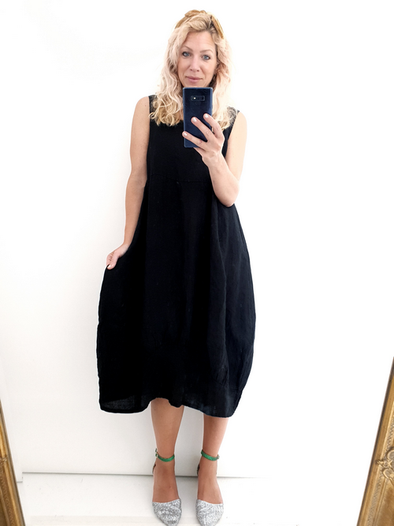 Helga May Maxi Dress: Plain - Black