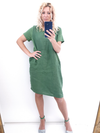 Helga May Jungle Dress: Plain - Pine
