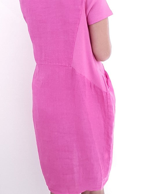Helga May Jungle Dress: Plain - Hot Pink