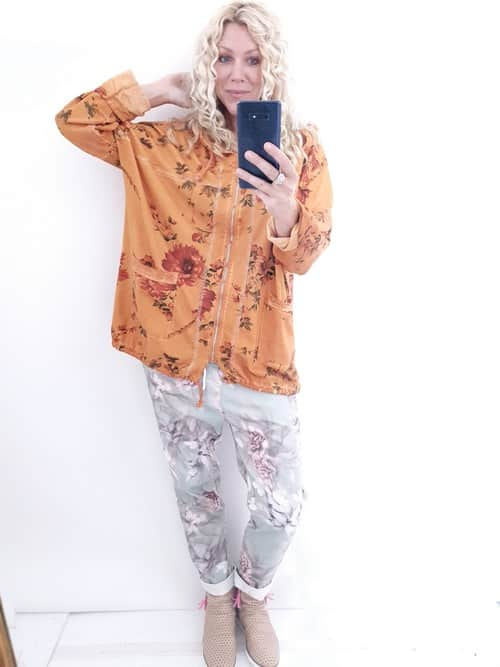 Helga May Silver Lining Hoodie: Elsa - Burnt Orange