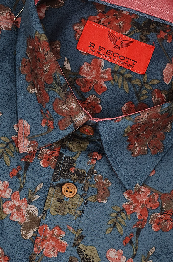 R.F. Scott Fielding Long Sleeve Shirt - Antique Blossom