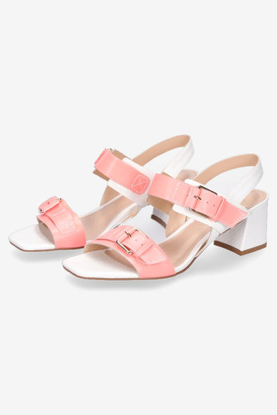 Hey Monday Hattie Heel - Coral & White