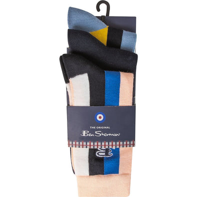 Ben Sherman 3 Pack Socks - Snap Pastel