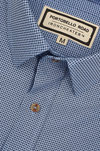 Iron Cheater Short Sleeve Shirt - Tiny Pattern on Blue