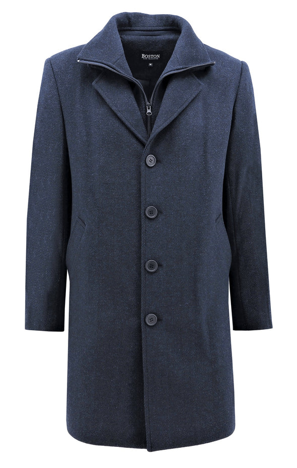 Winston Wool Coat - Navy