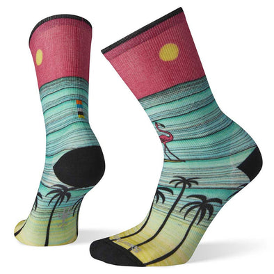 Smartwool Women Curated Surfing Flamingo Crew Sock