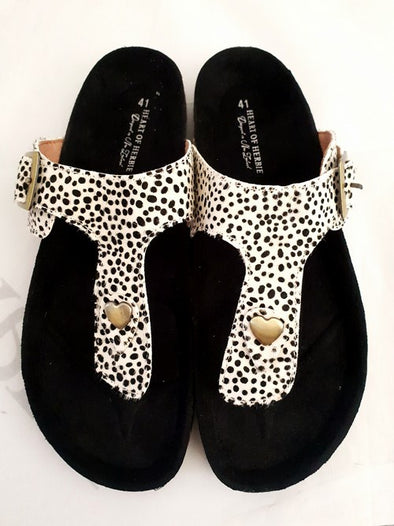 HM Black & White Dot Hedda Sandal