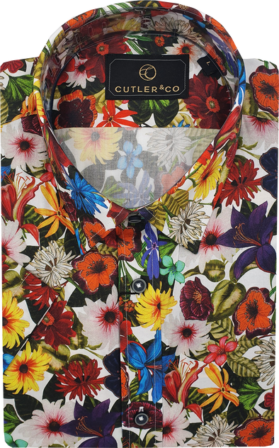 Cutler & Co Brody Short Sleeve Shirt - Wildflower Patch