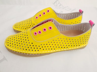 HM Neon Yellow & Neon Pink Vera Leather Shoe