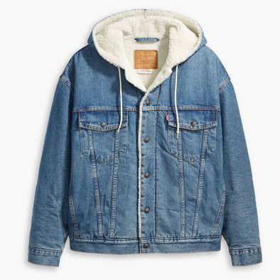 Levi's Hooded Sherpa Campfire Trucker Jacket