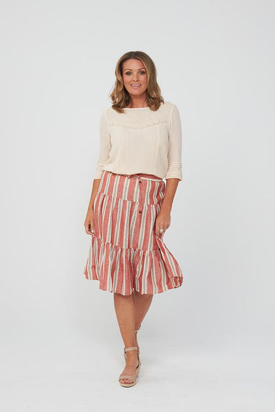 Kaja Havanna Skirt - Red Stripe
