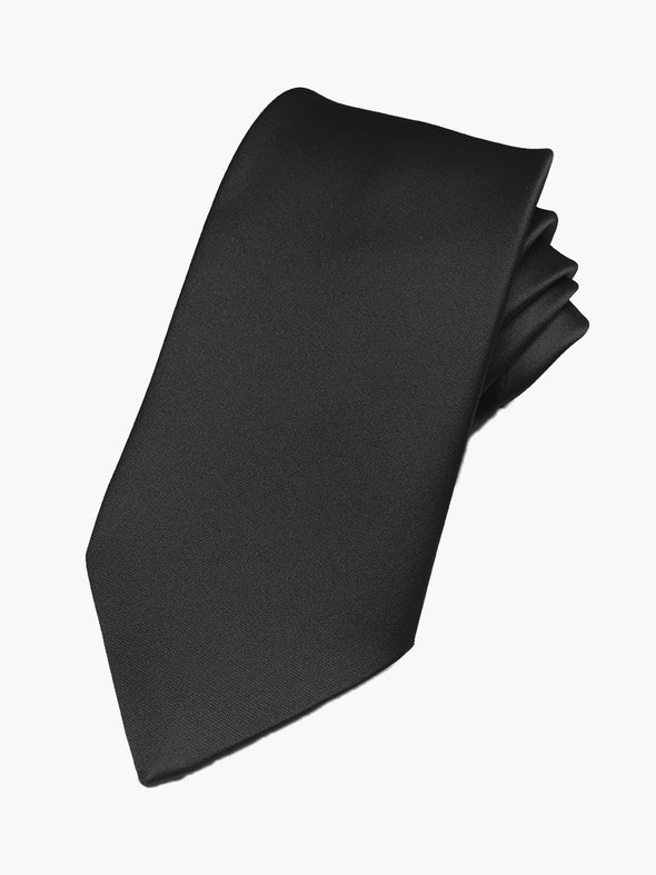Fellini Satin Tie - Black