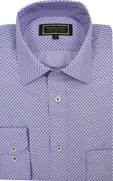 Iron Cheater Long Sleeve Shirt - Squares on Lilac