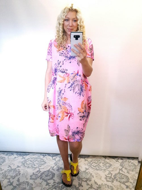 Helga May Jungle Dress Classic Neon Pink