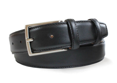 Black Italian Leather Belt