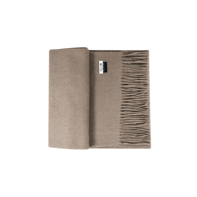 100% Lambs Wool Scarf - Taupe