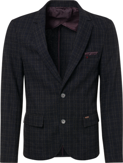No Excess Woven Yarn Dyed Blazer