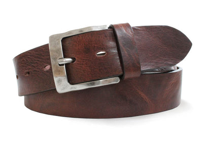 Rustic Brown Italian Leather Belt