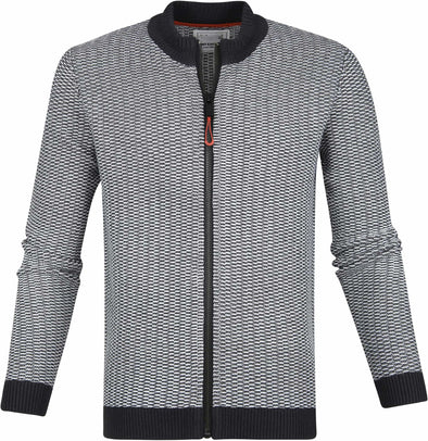No Excess Full Zip Sweater Knit