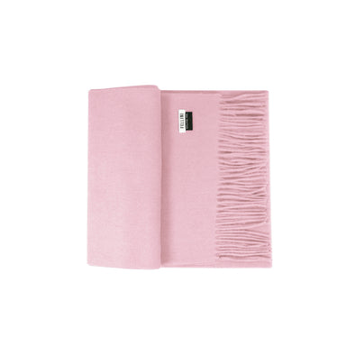 100% Lambs Wool Scarf - Baby Pink