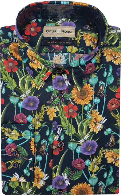Cutler & Co Blake Long Sleeve Shirt - Wildflower Meadow