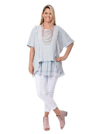 Terri Linen Layered Top