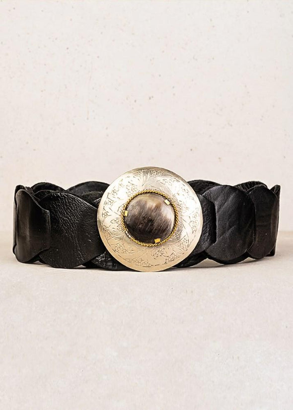 Black Clam Shell Belt