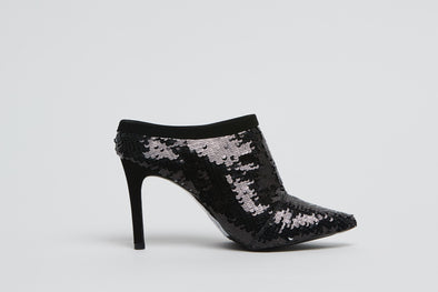 Hey Monday Frankie Black Sequin Heel