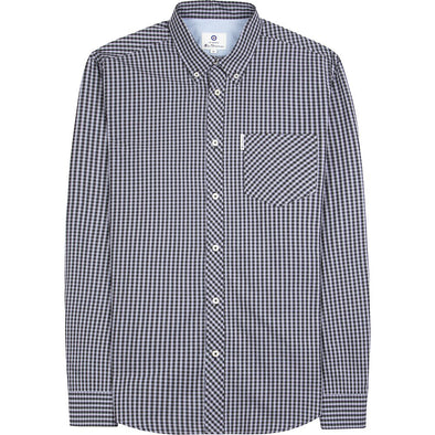 Ben Sherman EOE Gingham Long Sleeve Shirt - Lilac
