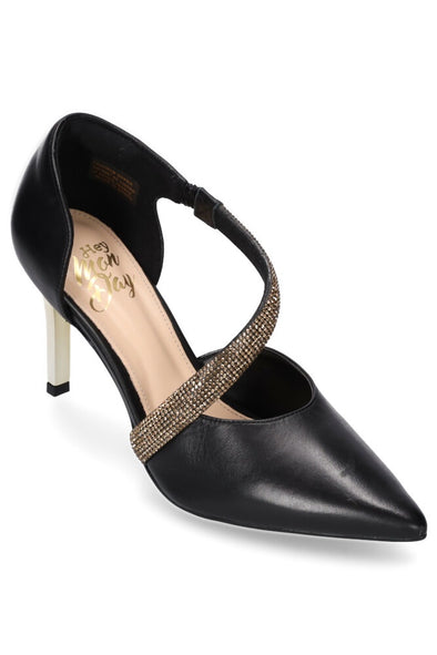 Hey Monday Lulu Heel - Black