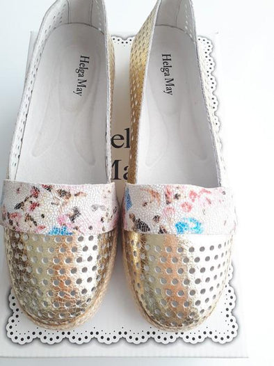 Maude Gold Blossom Womens Shoe