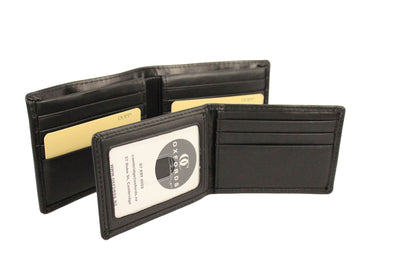 Black Two In One Detachable Card & Note Leather Wallet