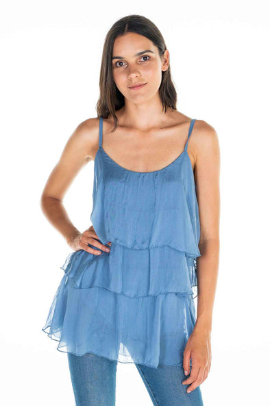 The Italian Closet - Stella layered silk Camisole