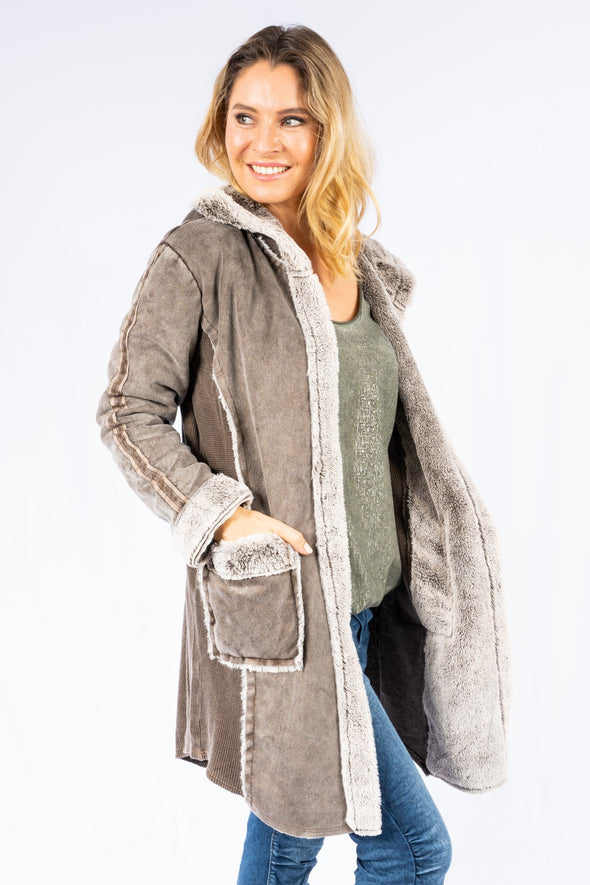 The Italian Closet - Vigna Soft Fur Hooded Coat