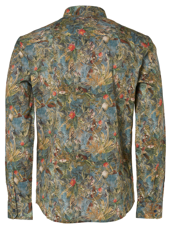 No Excess Tropical Print L/S Shirt