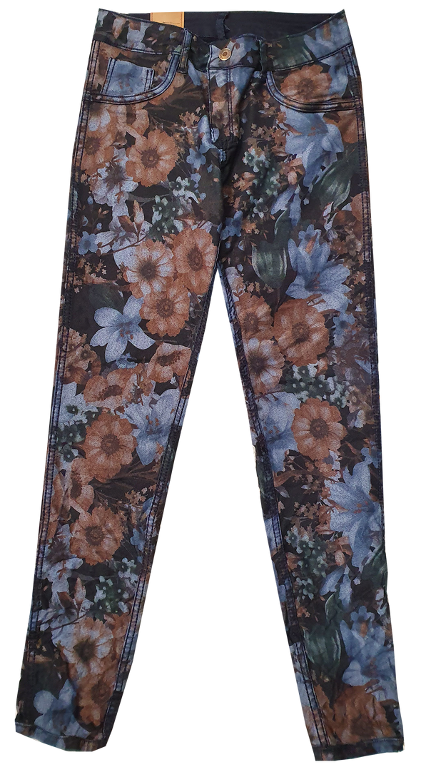 Womens Reversible Jeans - Navy & Bouquet