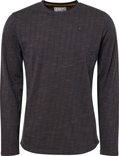 No Excess Long Sleeve 100% Cotton Shirt - Night